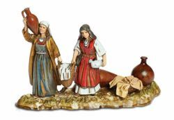 Picture of Women with Amphoras and Cloths Set cm 10 (3,9 inch) Landi Moranduzzo Nativity Scene in PVC, Arabic style
