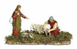 Picture of Sheep Shearer and Woman Set cm 10 (3,9 inch) Landi Moranduzzo Nativity Scene in PVC, Arabic style