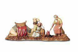 Picture of Cameleers Set cm 10 (3,9 inch) Landi Moranduzzo Nativity Scene in PVC, Arabic style