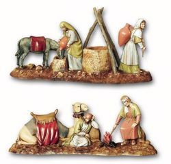 Picture of Women at the Well with Cameleers Set cm 10 (3,9 inch) Landi Moranduzzo Nativity Scene in PVC, Arabic style