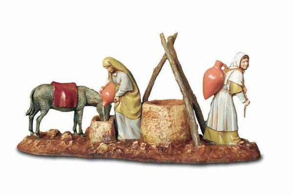 Picture of Women at the Well Set cm 10 (3,9 inch) Landi Moranduzzo Nativity Scene in PVC, Arabic style