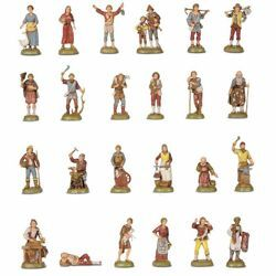 Picture of 24 Shepherds Set cm 6 (2,4 inch) Landi Moranduzzo Nativity Scene in PVC, Neapolitan style