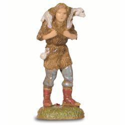 Picture of Good Shepherd cm 6 (2,4 inch) Landi Moranduzzo Nativity Scene in PVC, Neapolitan style