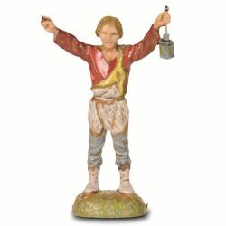 Picture of Shepherd with Lantern cm 6 (2,4 inch) Landi Moranduzzo Nativity Scene in PVC, Neapolitan style