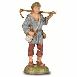 Picture of Shepherd with Shovel cm 6 (2,4 inch) Landi Moranduzzo Nativity Scene in PVC, Neapolitan style