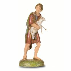 Picture of Young Shepherd with Lamb cm 6 (2,4 inch) Landi Moranduzzo Nativity Scene in PVC, Neapolitan style
