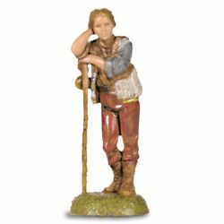 Picture of Shepherd with Stick cm 6 (2,4 inch) Landi Moranduzzo Nativity Scene in PVC, Neapolitan style