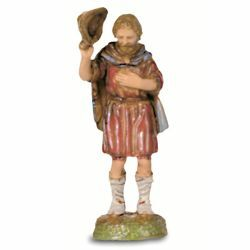 Picture of Shepherd with Hat cm 6 (2,4 inch) Landi Moranduzzo Nativity Scene in PVC, Neapolitan style