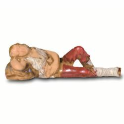 Picture of Sleeping Man cm 6 (2,4 inch) Landi Moranduzzo Nativity Scene in PVC, Neapolitan style