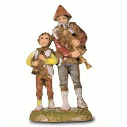 Picture of Bagpipers cm 6 (2,4 inch) Landi Moranduzzo Nativity Scene in PVC, Neapolitan style