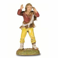 Picture of Screaming Man cm 6 (2,4 inch) Landi Moranduzzo Nativity Scene in PVC, Neapolitan style
