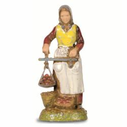 Picture of Woman with Balance cm 6 (2,4 inch) Landi Moranduzzo Nativity Scene in PVC, Neapolitan style