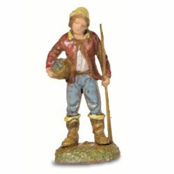 Picture of Fisherman cm 6 (2,4 inch) Landi Moranduzzo Nativity Scene in PVC, Neapolitan style