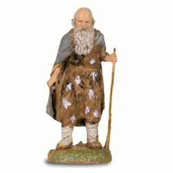 Picture of Elderly Man with Stick cm 6 (2,4 inch) Landi Moranduzzo Nativity Scene in PVC, Neapolitan style
