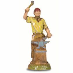 Picture of Blacksmith cm 6 (2,4 inch) Landi Moranduzzo Nativity Scene in PVC, Neapolitan style