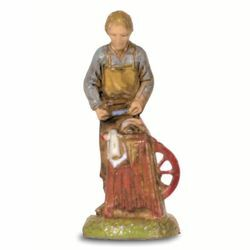 Picture of Knife Sharpener cm 6 (2,4 inch) Landi Moranduzzo Nativity Scene in PVC, Neapolitan style