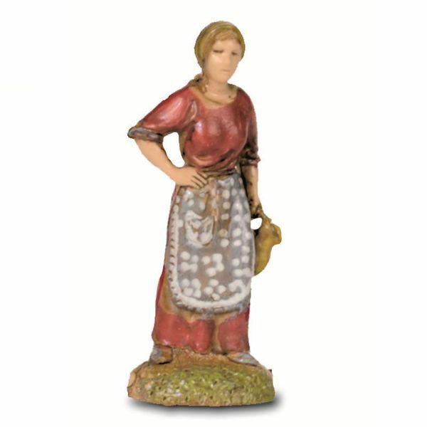 Immagine di Donna con Anfora cm 6 (2,4 inch) Presepe Landi Moranduzzo in PVC stile Napoletano
