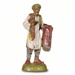 Picture of Arab with Cloth cm 6 (2,4 inch) Landi Moranduzzo Nativity Scene in PVC, Neapolitan style