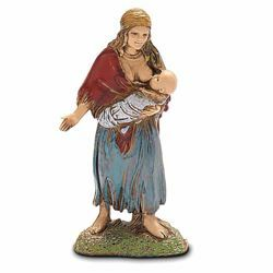Picture of Gypsy Woman with Baby cm 6 (2,4 inch) Landi Moranduzzo Nativity Scene in PVC, Neapolitan style