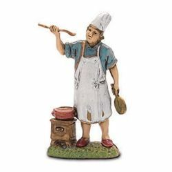 Picture of Cook cm 6 (2,4 inch) Landi Moranduzzo Nativity Scene in PVC, Neapolitan style