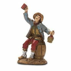 Picture of Sitting Drinker cm 6 (2,4 inch) Landi Moranduzzo Nativity Scene in PVC, Neapolitan style