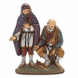 Picture of Shepherds with Fire cm 6 (2,4 inch) Landi Moranduzzo Nativity Scene in PVC, Neapolitan style