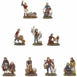 Picture of 9 Subjects Set cm 6 (2,4 inch) Landi Moranduzzo Nativity Scene in PVC, Neapolitan style