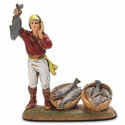 Picture of Fishmonger cm 6 (2,4 inch) Landi Moranduzzo Nativity Scene in PVC, Neapolitan style