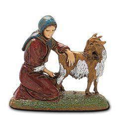 Picture of Milkmaid cm 6 (2,4 inch) Landi Moranduzzo Nativity Scene in PVC, Neapolitan style