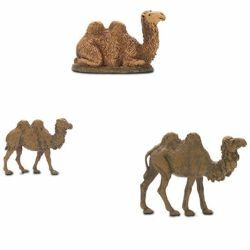 Picture of 3 Camels Set cm 6 (2,4 inch) Landi Moranduzzo Nativity Scene in PVC, Neapolitan style
