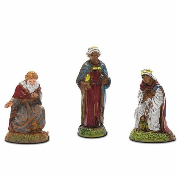 Picture of Wise Kings cm 6 (2,4 inch) Landi Moranduzzo Nativity Scene in PVC, Neapolitan style