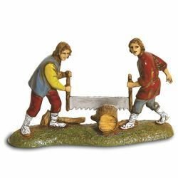 Picture of Woodmen Set cm 6 (2,4 inch) Landi Moranduzzo Nativity Scene in PVC, Neapolitan style