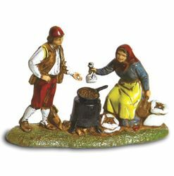 Picture of Chestnut-woman Set cm 6 (2,4 inch) Landi Moranduzzo Nativity Scene in PVC, Neapolitan style