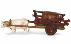 Picture of Carriage with Barrels cm 6 (2,4 inch) Landi Moranduzzo Nativity Scene in PVC, Neapolitan style