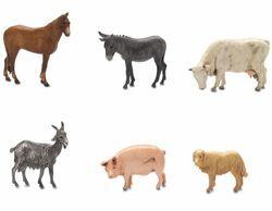 Immagine di Gruppo 6 Animali da fattoria cm 6 (2,4 inch) Presepe Landi Moranduzzo in PVC stile Napoletano