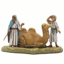 Picture of Cameleers with Sitting Camel cm 6 (2,4 inch) Landi Moranduzzo Nativity Scene in PVC, Neapolitan style