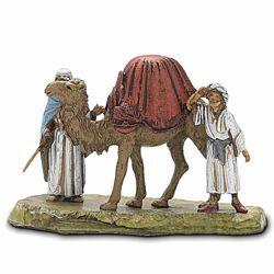 Picture of 2 Cameleers and 1 Camel Set cm 6 (2,4 inch) Landi Moranduzzo Nativity Scene in PVC, Neapolitan style