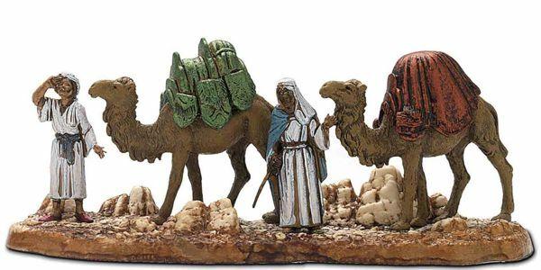 Imagen de Grupo de Camelleros cm 6 (2,4 inch) Belén Landi Moranduzzo en PVC, estilo Napolitano