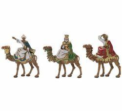 Picture of Wise Kings on Camel cm 6 (2,4 inch) Landi Moranduzzo Nativity Scene in PVC, Neapolitan style