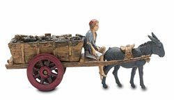 Picture of Carriage with Donkey Set cm 6 (2,4 inch) Landi Moranduzzo Nativity Scene in PVC, Neapolitan style