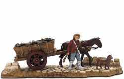 Picture of Carriage Driver Set cm 6 (2,4 inch) Landi Moranduzzo Nativity Scene in PVC, Neapolitan style