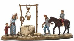 Picture of Water Well Set cm 6 (2,4 inch) Landi Moranduzzo Nativity Scene in PVC, Neapolitan style