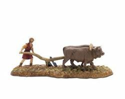 Picture of Plow Set cm 6 (2,4 inch) Landi Moranduzzo Nativity Scene in PVC, Neapolitan style