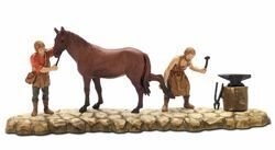 Picture of Farrier Set cm 6 (2,4 inch) Landi Moranduzzo Nativity Scene in PVC, Neapolitan style