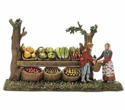Picture of Greengrocer Set cm 6 (2,4 inch) Landi Moranduzzo Nativity Scene in PVC, Neapolitan style