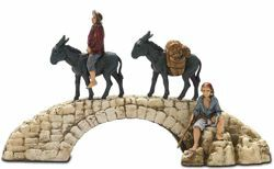 Picture of Bridge Set cm 6 (2,4 inch) Landi Moranduzzo Nativity Scene in PVC, Neapolitan style