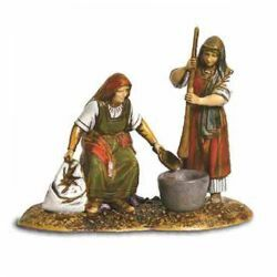 Picture of Women with Pestle Set cm 10 (3,9 inch) Landi Moranduzzo Nativity Scene in PVC, Arabic style