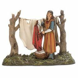 Picture of Washerwoman Set cm 10 (3,9 inch) Landi Moranduzzo Nativity Scene in PVC, Arabic style