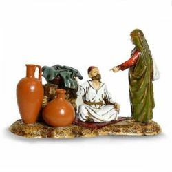 Picture of Marketplace Set cm 10 (3,9 inch) Landi Moranduzzo Nativity Scene in PVC, Arabic style