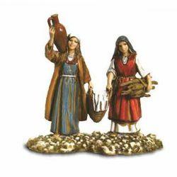 Picture of Walking Washerwomen cm 10 (3,9 inch) Landi Moranduzzo Nativity Scene in PVC, Arabic style